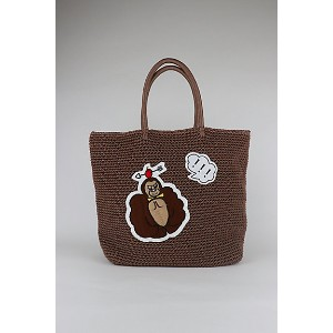 LUDLOW/ラドロー 【予約販売】【3月中旬以降届】Cord bag with animal motif(L size) COCOA【三越・伊勢丹/公式】 バッグ~~トートバッグ~~レディース...