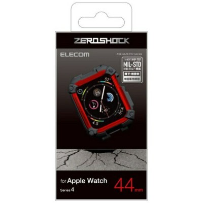 エレコム ELECOM Apple Watch 44mm ZEROSHOCKケース レッド AW-44ZERORD[AW44ZERORD]