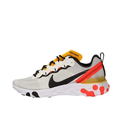 Nike React Element 55 [BQ6166-102] Men Casual Shoes White/Black-Bright Crimson/US 9.0
