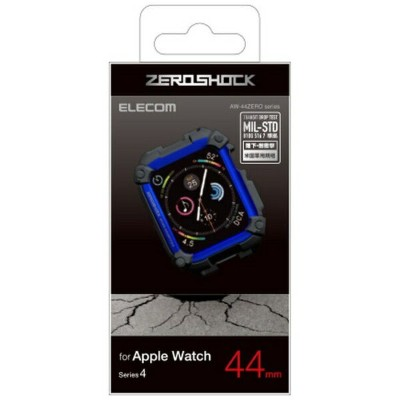 エレコム ELECOM Apple Watch 44mm ZEROSHOCKケース ブルー AW-44ZEROBU[AW44ZEROBU]