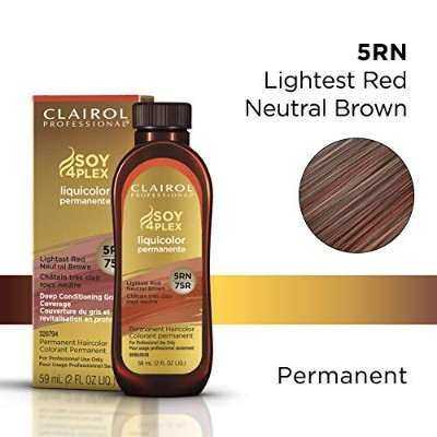 Clairol Professional Soy 4 Plex Liquicolor Permanent 75R Lightest Red Neutral Brown 59 ml (並行輸入品)