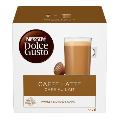 Nescafe Dolce Gusto Cafe Au Lait (Pack of 3, Total 48 Capsules)