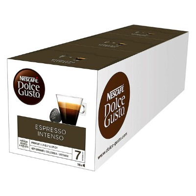 Nescafe Dolce Gusto Espresso Intenso 16 Capsules (Pack of 3, Total 48 Capsules)