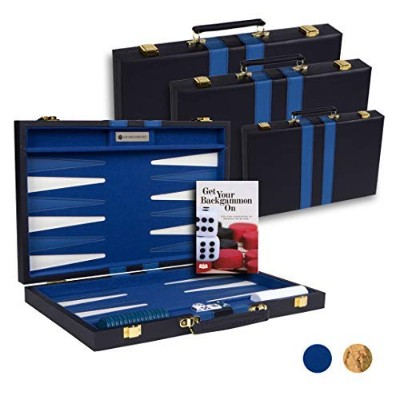 #1 Top Backgammon Set - Classic Board Game Case - Best Strategy & Tip Guide - Available in Small,...