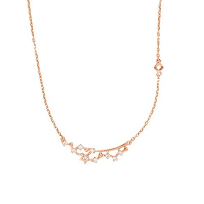 ARJE 14K Rose Gold Chain Necklace 女性用チェーンネックレス, 天の川の形,   18インチ(45.72cm)ロング