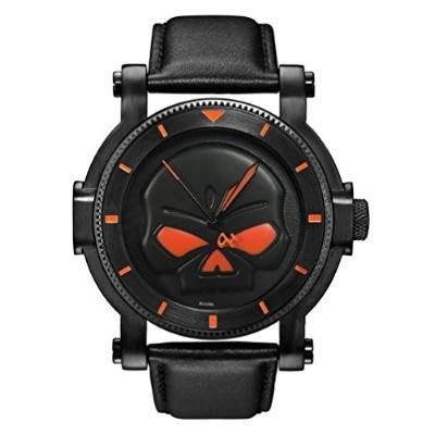 ブローバ 腕時計 メンズ 78A114 Harley-Davidson Men's Bulova Black Willie G Skull Wrist Watch 78A114ブローバ 腕時計...