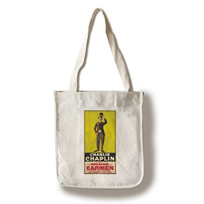 Charlie Chaplin : A Burlesque on Carmenヴィンテージポスター(アーティスト:匿名) USA C。1916 Canvas Tote Bag LANT-72621...