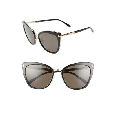 TOM FORD ローズ 【 ROSE SIMONA 56MM SUNGLASSES BLACK GOLD SMOKE 】 バッグ 眼鏡 送料無料