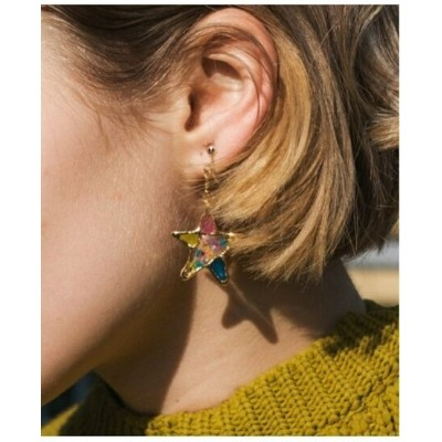 rehacer rehacer:Stained glass Star Earings レアセル アクセサリー イヤリング ゴールド シルバー