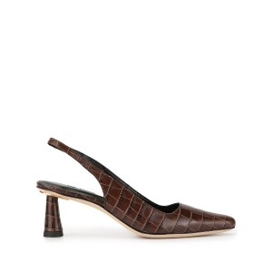 BY FAR Diana Nutella Croco Embossed Leather - ブラウン