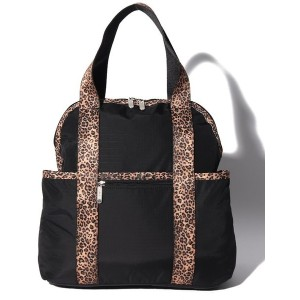 LeSportsac DOUBLE TROUBLE BACKPACK/チーターノワール