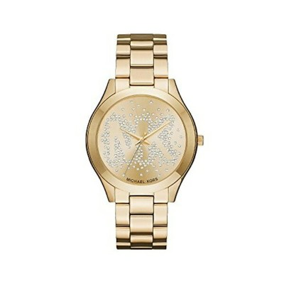 マイケルコース Michael Kors レディース 腕時計 時計 Michael Kors Slim Runway Goldtone Three Hand Watch
