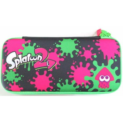 Splatoon2 ハードポーチ for Nintendo Switch インク×イカ[ホリ]《取り寄せ※暫定》