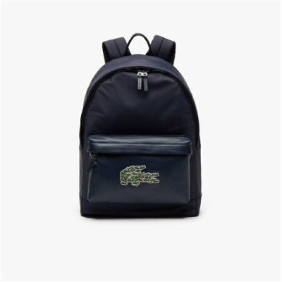 【SALE/30%OFF】LACOSTE L.12.12CUIRCHRISTMASマルチロゴデイパック ラコステ バッグ リュック/バックパック ホワイト【送料無料】