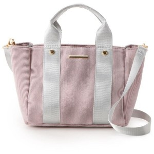 【pink adobe(ピンクアドベ)】  2WAY コーデュロイトートバッグ OUTLET > pink adobe > バッグ・財布・小物入れ > トートバッグ ライトピンク