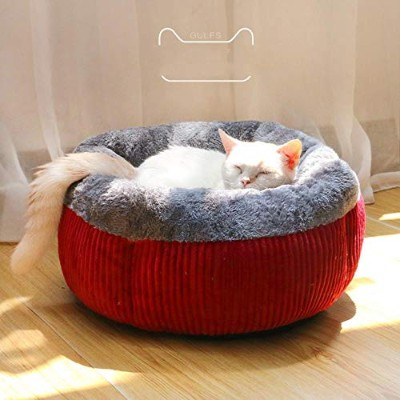 Home Pet Warm Cat Bed Trap Winter Soft Cat Nest Closed Universal Soft Dog Bed Cat Fleece Cushion...