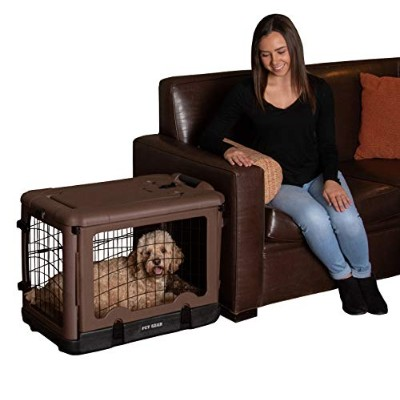 Pet Gear 30-Pound The Other Door Deluxe Steel Crate for Pets, 27-Inch, Chocolate by Pet Gear