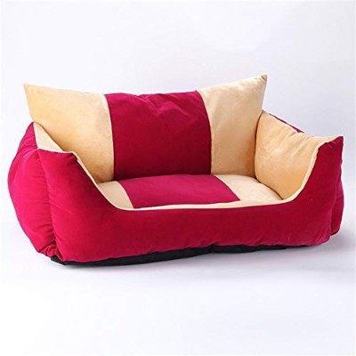 Luxury Pet Sofa Bed Soft Velvet Dog Bed Mat Cozy Cat Nest Puppy Kennel House Dog Bench Lounger...