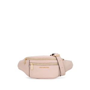 Michael Kors Collection double zipped compartment belt bag - ピンク