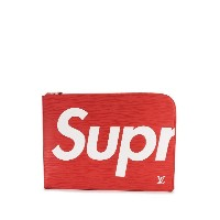 Louis Vuitton Pre-Owned Louis Vuitton x Supreme Jules GM クラッチバッグ - レッド