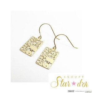 SNOOPY(スヌーピー)/Star★d'or K10 レースパターンピアス