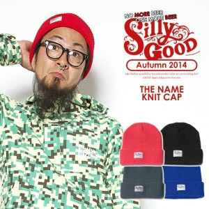 SILLY GOOD(シリーグッド) THE NAME KNIT CAP 【SILLYGOOD メンズ 帽子 キャップ】