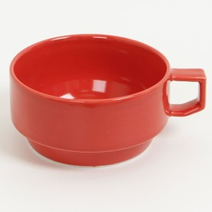 HASAMI BLOCKMUG SOUP RED 【RCP】
