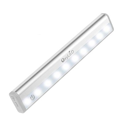 OxyLED led バーセンサーライト 省エネ 超寿命 室内 人感 センサー バーセンサー キッチンライト マグネット 粘着 ライト 屋内照明 両面テープ 足元ライト 磁石付き(電球色)...