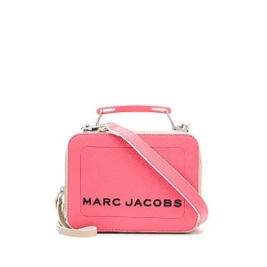 Marc Jacobs The Colorblock Textured mini box bag - ピンク