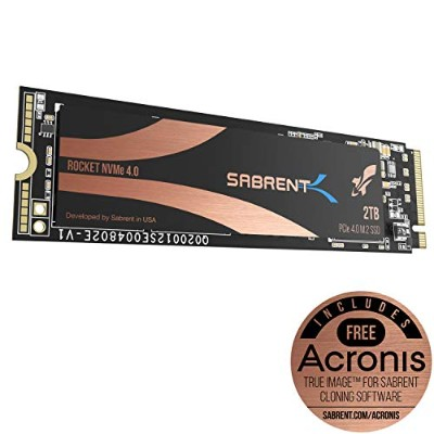 Sabrent 2TB ロケット Nvme PCIe 4.0 M.2 2280内蔵 SSD 最大パフォーマンスSSD (SB-ROCKET-NVMe4-2TB)