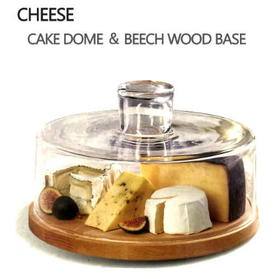 CHEESE CAKE DOME & BEECH WOOD BASEケーキ皿 ケーキドーム フード 容器【smtb-ms】1119574