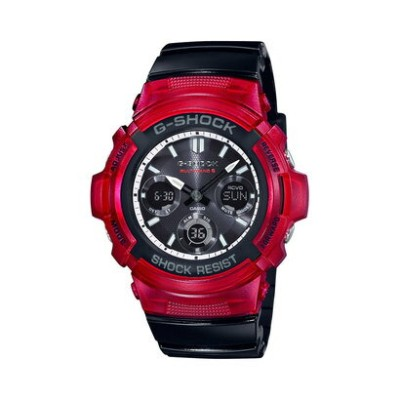 【G-SHOCK】SPECIAL COLOR / 電波ソーラー / AWG-M100SRB-4AJF (レッド×ブラック)