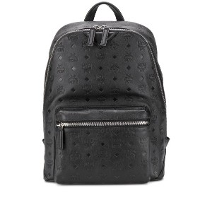 MCM embossed monogram backpack - ブラック
