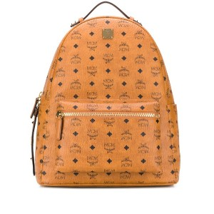 MCM monogram print backpack - ブラウン