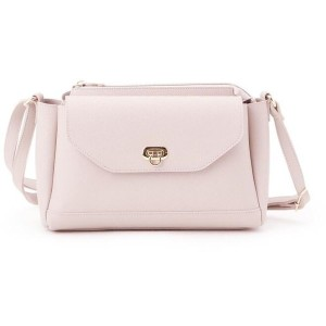 【pink adobe(ピンクアドベ)】 フラップデザイン ショルダーバッグ OUTLET > pink adobe > バッグ・財布・小物入れ > ショルダーバッグ グレー