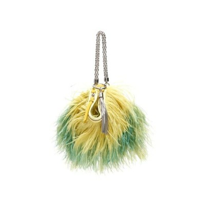 ジミーチュウ レディース クラッチバッグ バッグ Jimmy Choo Callie Chain Evening Clutch With Feathers CITRUSMINTYellow