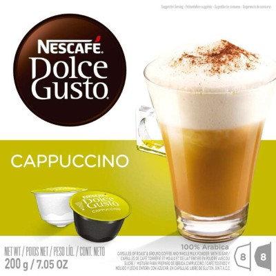 Nescafe - Dolce Gusto - Cappuccino Coffee Pods 8 Drinks - 200g