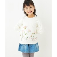 【3can4on(Kids)(サンカンシオン(キッズ))】 【90-140cm】フラワー裏毛トレーナー OUTLET > 3can4on(Kids) > トップス > スウェット・トレーナー...