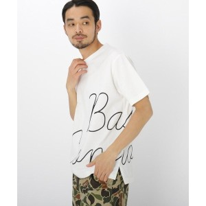 【BASE CONTROL(ベースコントロール)】 ロール ロゴ プリント Tシャツ OUTLET > BASE CONTROL > トップス > Tシャツ アイボリー