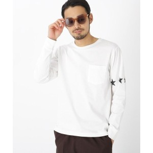 【BASE CONTROL(ベースコントロール)】 スターライン 長袖 Tシャツ ロンT OUTLET > BASE CONTROL > トップス > カットソー アイボリー