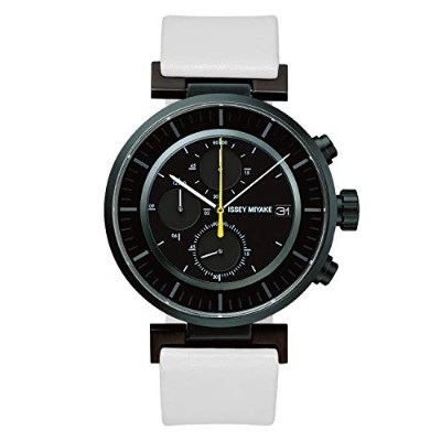 wena wrist leather Chronograph set White –ISSEY MIYAKE Edition-