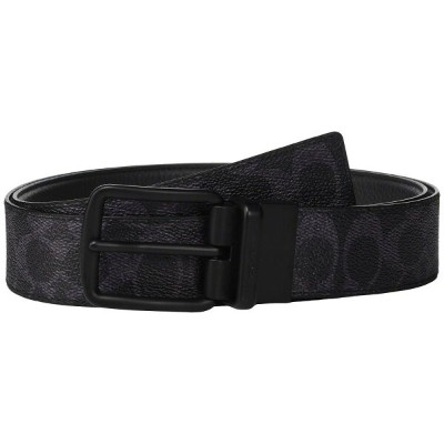 コーチ COACH メンズ ベルト 【Wide Harness Signature Reversible Belt】Blue