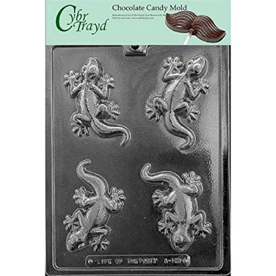 Cybrtrayd A133 Lizard Chocolate Candy Mould with Exclusive Cybrtrayd Copyrighted Chocolate Moulding...