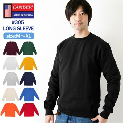 camber Tシャツ 通販 キャンバー ロンT 305 ロングスリーブ 長袖 #305 MAX-WEIGHT JERSEY LONG SLEEVE 8oz マックスウェイト コットン 無地 厚手...