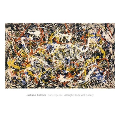 Convergence Art Print by Jackson Pollock 40 x 28in by barewalls