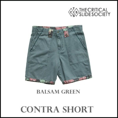 TCSS / THE CRITICAL SLIDE SOCIETY CONTRA SHORT PT :BALSAM GREEN メンズ ハーフパンツ