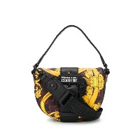 Versace Jeans Couture baroque print buckled shoulder bag - レッド