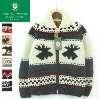 【24H限定10%OFFクーポン!3000円以上】Canadian Sweater Company(カナディアン セーター カンパニー) FULLZIP HAND KNIT COWICHAN...