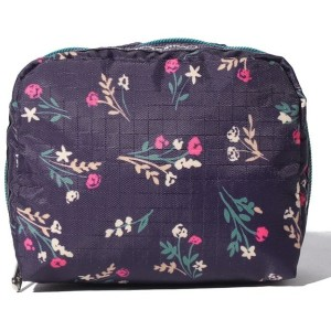 LeSportsac SQUARE COSMETIC/ユッカパープルブーケ