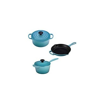 Le Creuset 5 Piece Enameled cast-iron Condo調理器具セット ブルー